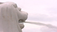 Stock Video Footage of singapore merlion ion fountain