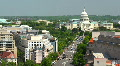 Washington DC US Capitol Hill Timelapse USA Aerial View Skyline D.C. Car Traffic HD Footage