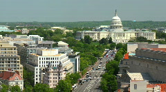 Washington DC US Capitol Hill Timelapse USA Aerial View Skyline D.C. Car Traffic Stock Footage