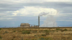 Power plant pollution P PH 7944 Stock Footage