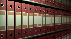 Archival racks - stock footage
