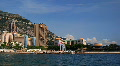 Larvotto Monaco Skyline Time lapse Larvotto Sandy Beach, Sporting Monte-Carlo HD Footage