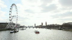 The River Thames Stock Footage