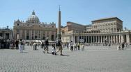 Saint Peter Square, Rome Stock Footage