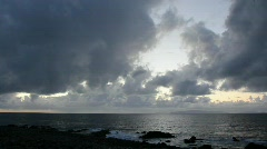 Cloudy Morning Ocean View (1869) Stock Footage
