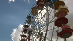 Farris wheel one rider Stock Footage