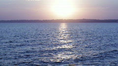 Vivid beach sunset - stock footage