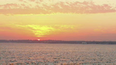 beach sunset almost gone - stock footage