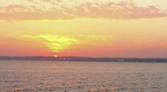 Beach sunset almost gone Stock Footage