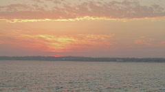beach sunset orange sky - stock footage
