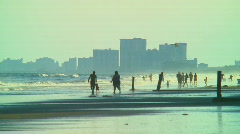 Beach fun 02 Stock Footage