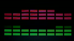 Graphic equalisers music audio technology Stock Footage