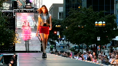 Catwalk designer show in Montreal, Quebec, Canada Stock Footage
