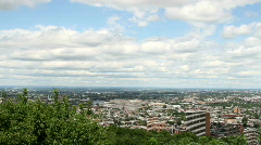 View Of Montreal From Mount Royal, a large hill in the city of montreal Stock Footage