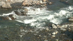 rocky river stream white green water liquid flows moving background - stock footage