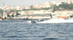 Offshore racing Stock Footage