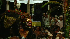 Bali Village Barong 1 Stock Footage