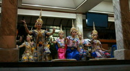 Stock Video Footage of Traditional Thai Dance at Buddhist Temple in Bangkok, Thailand