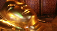 Stock Video Footage of Sleeping Buddha Statue in Bangkok, Thailand