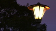 Stock Video Footage of Classic Street Lamp