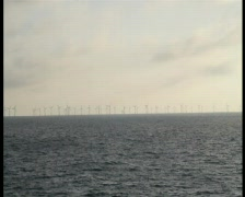 Windpark boat 1 1 Stock Footage