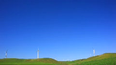 windmills in deep blue sky.mpg - stock footage