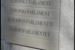 country sign European parliament - stock footage