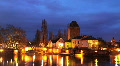 Strasbourg Skyline Time lapse Petite France, Covered bridges, Ill River, Dusk Footage