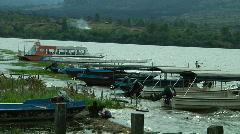 Children at Balinese Lake  Stock Footage