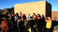 Pilgrims from China. Invocatory prayer. Moses Mountain. Sinai Peninsula. Egypt Stock Footage