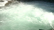River rapids water whirlpool zoom out reveals rocky canyon audio Stock Footage