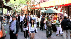 China town in Montreal, Quebec, Canada - stock footage
