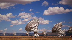 Radar Array Dish Time Lapse Stock Footage
