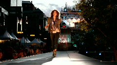 Forever21 fashion show Stock Footage