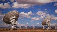 Radar Array Dish Time Lapse Stock Footage