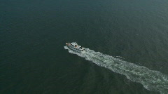 Aerial Luxury Yacht Stock Footage