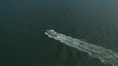 Aerial Luxury Yacht - stock footage