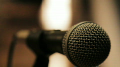 Speakers Microphone - stock footage