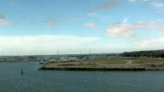 Land Going By as the Cruise Ship Passes by in the Water 1 Stock Footage