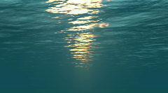 Underwater scene with sunrays shining through  - stock footage