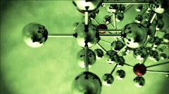 Abstract Molecular Structure with spinning camera. - stock footage