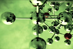 Abstract Molecular Structure with spinning camera.  Stock Footage