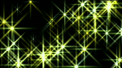 Flare stars,starlight stage sky universe,flash disco fireworks ray sparkle. Stock Footage