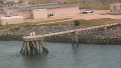 A U.S. Coast Guard Station On The Coast of Florida Stock Footage