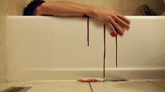 Suicide in Bathtub Stock Footage