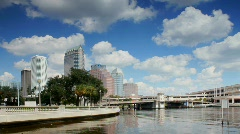 Tampa Downtown on sunny afternoon Stock Footage