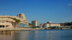 Tampa convention center in late afternoon Stock Footage