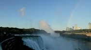 Stock Video Footage of Rainbow over Niagara