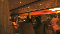 People Sit around a Table at the Bar and Drink Stock Footage