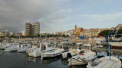 Palamos port costa brava coast harbour port spain Stock Footage